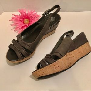 CROWN VINTAGE wedge heel sandals w/cork heel.